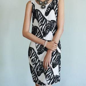 Anthropologie Beaded Zebra Dress